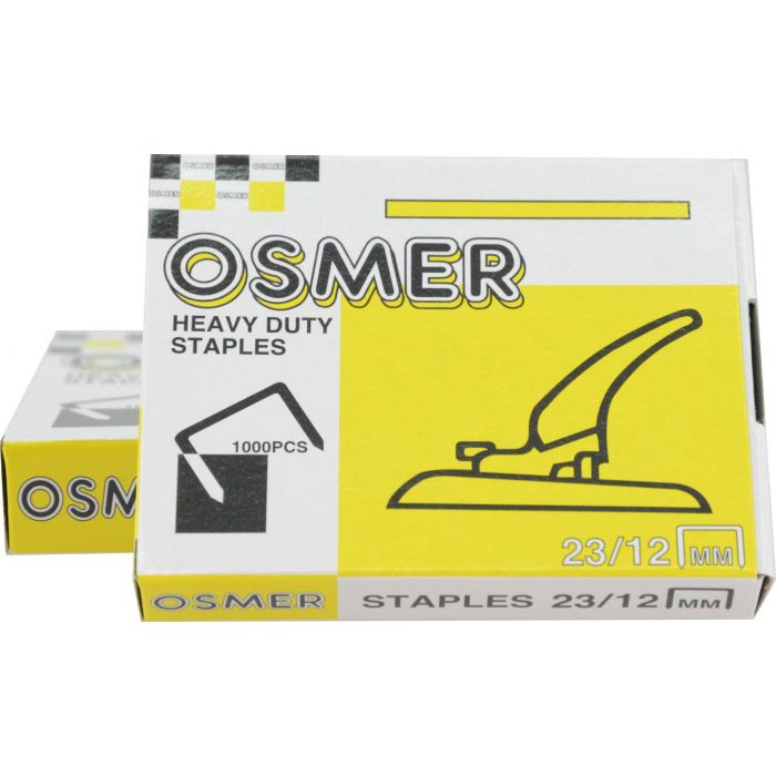 Osmer 23//12 Heavy Duty Staples Boxes of 1000-123420
