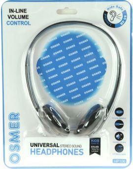 HEADSET WITH INLINE MIC & VOLUME CONTROL - SINGLE 3.5MM PLUG - HP106