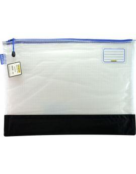 REINFORCED NYLON BOTTOM - CLEAR MESH CASE 48 X 35CM - BLUE ZIP - RMA3B
