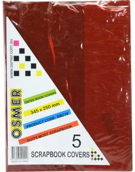 SCRAPBOOK COVER - TINTED - PACK OF 5 - SBC19