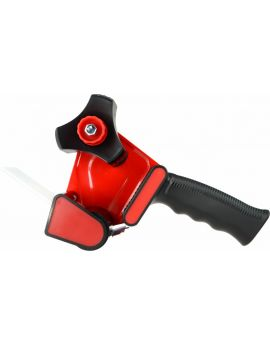 TAPE GUN DISPENSER - RETRACTABLE BLADE - BLACK & RED - TG01