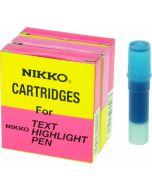 NIKKO HIGHLIGHTER - REFILLS - BOX OF 5 - BLUE - 1292R