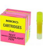 NIKKO HIGHLIGHTER - REFILLS - BOX OF 5 - YELLOW - 1297R