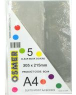 A4 CLEAR BOOK COVER  - PACK OF 5 - BCA4