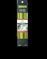 HEXAGONAL WOOD CASE HB PENCILS - ERASER TIP - BOX OF 12 - HEX12HB