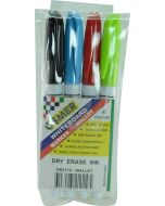 OSMER FINE TIP WHITEBOARD MARKER WALLET OF 4 - OS2119