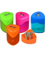 2 HOLE TRIANGULAR DRUM SHARPENER - BOX OF 12 - PS8167
