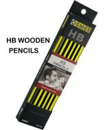 HEXAGONAL WOOD CASE PENCILS - HB - WITH PREMIUM ERASER TIP - HEX12HB