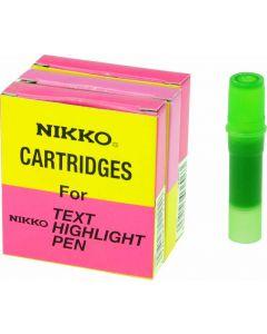 NIKKO HIGHLIGHTER - REFILLS - BOX OF 5 - GREEN - 1294R
