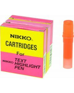 NIKKO HIGHLIGHTER - REFILLS - BOX OF 5 - ORANGE - 1296R