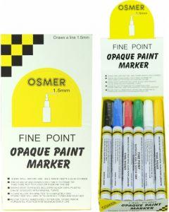FINE TIP OSMER PAINT MARKERS - 1.5mm LINE - DOZEN - ASSORTED - 2519