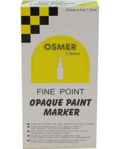 FINE TIP OSMER PAINT MARKERS - 1.5mm LINE - DOZEN - RED - 2503