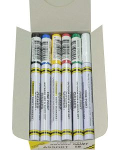 FINE TIP OSMER PAINT MARKERS - 1.5mm LINE - DOZEN - ASSORTED - 2519