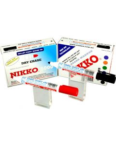NIKKO WHITEBOARD MARKERS - DOZEN - BLUE - 5002