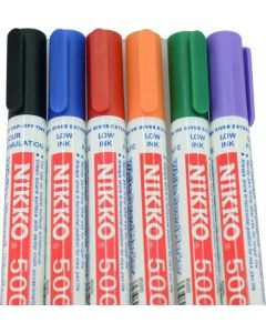 NIKKO WHITEBOARD MARKERS - DOZEN - ASSORTED - 5019-ASSORTED