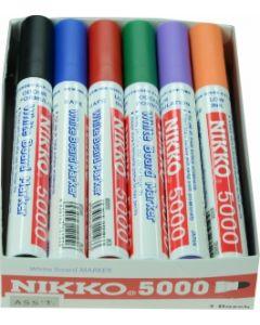 NIKKO WHITEBOARD MARKERS - DOZEN - ASSORTED - 5019-ASSORTED