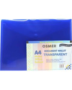 DOCUMENT WALLETS - A4 - ASSORTED - PACK OF 10 - A4W1099