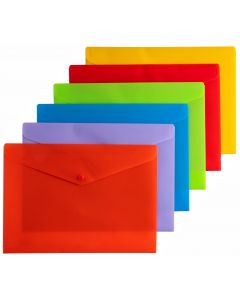 DOCUMENT WALLETS - A4 - SOLID ASSORTED - A4W19