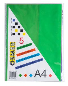 A4 SOLID BOOK COVERS - PACK OF 5 - BCA499