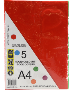 A4 SOLID BOOK COVERS - BCA499