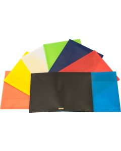 PLASTIC DOCUMENT WALLETS - FOOLSCAP - BLACK - DWF01