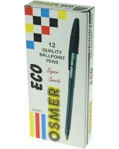 ECO BALLPENS - DOZEN - BLACK - ECO71
