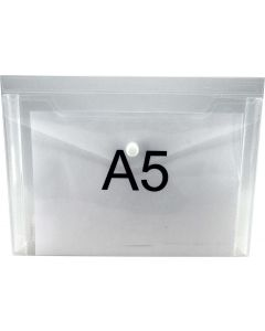 GUSSET DOCUMENT WALLETS - A5 - CLEAR - GWA513