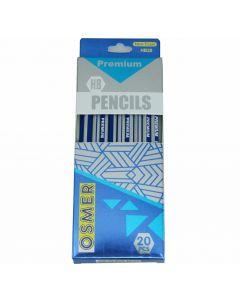 HEXAGONAL WOOD CASE PREMIUM HB PENCILS - BOX 20 - HB20