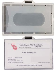 HARD PLASTIC ID CARD HOLDER - LANDSCAPE - BOX OF 20 - HPCL01
