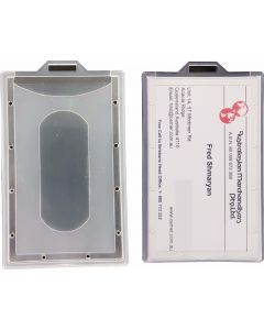 HARD PLASTIC ID CARD HOLDER - PORTRAIT - HPCP02