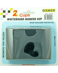 MAGNETIC WHITEBOARD PEN HOLDER - 2 CUPS - OWCUP