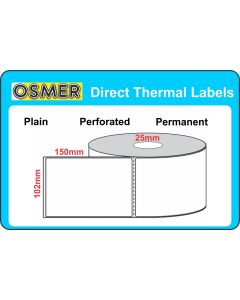 Direct Thermal Transfer Labels - 102mm X 150mm - L11415