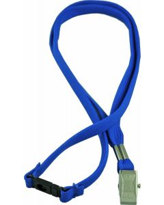 LANYARD - ALLIGATOR CLIP WOVEN WITH SAFETY RELEASE - BLUE - LA102