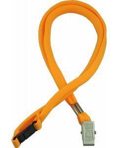 LANYARD - ALLIGATOR CLIP WOVEN WITH SAFETY RELEASE - YELLOW - LA107