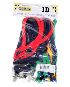 LANYARD - ALLIGATOR CLIP WOVEN WITH SAFETY RELEASE - ASSORTED - LA119