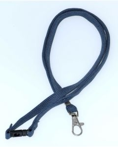 LANYARD - D CLIP WOVEN WITH SAFETY RELEASE - GREY - LD200
