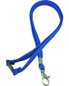 LANYARD - D CLIP WOVEN WITH SAFETY RELEASE - BLUE - LD202