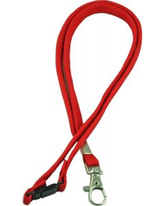 LANYARD - D CLIP WOVEN WITH SAFETY RELEASE - RED - LD203