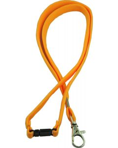 LANYARD - D CLIP WOVEN WITH SAFETY RELEASE - YELLOW - LD207