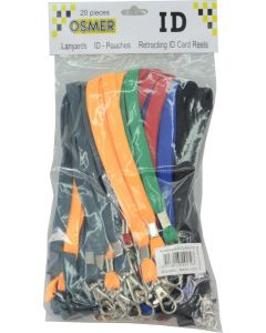 LANYARD - D CLIP WOVEN WITH SAFETY RELEASE - ASSORTED - LD219