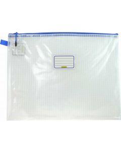 CLEAR MESH CASE - A3 - 46.5 X 35.5CM - BLUE ZIP - MA3B