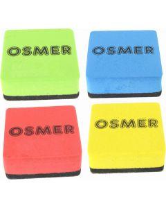 OSMER MINI WHITEBOARD ERASER - MAGNETIC - PACK OF 12 - ME222