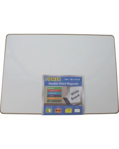 MDF WHITEBOARD - MAGNETIC - A4 - DOUBLE SIDED - PLAIN - MWBMAG