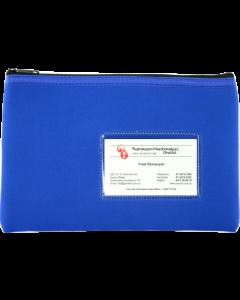 NEOPRENE NAME CARD PENCIL CASE - 1 ZIP - 23 X 15.5CM - BLUE - N2315B