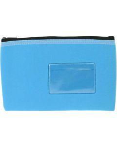 NEOPRENE NAME CARD PENCIL CASE - 1 ZIP - 23 X 15.5CM - LIGHT BLUE - N2315LB