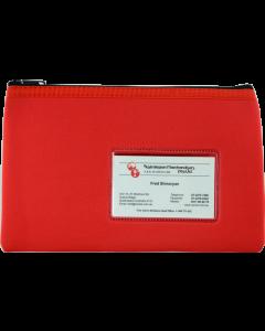 NEOPRENE NAME CARD PENCIL CASE - 1 ZIP - 23 X 15.5CM - RED - N2315R