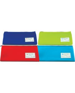 NEOPRENE NAME CARD PENCIL CASE - 1 ZIP 34 X 17CM - BLUE - N3417B1