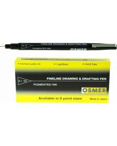 OSMER FINE LINE DRAWING & DRAFTING PEN - DOZEN - 0.3mm - OD31