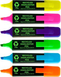 OSMER RECYCLED HIGHLIGHTER - DOZENS - ASSORTED - OH919