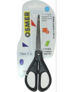 OSMER 170MM SCISSORS - BLACK HANDLE - OS170